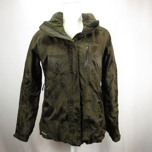 Columbia RARE Portland Map Titanium Jacket Coat L